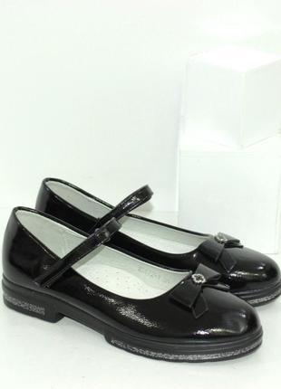 Женские черные школьные туфли для девочек