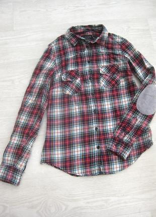 Байковая рубашка в клетку разноцветная alcott коттон