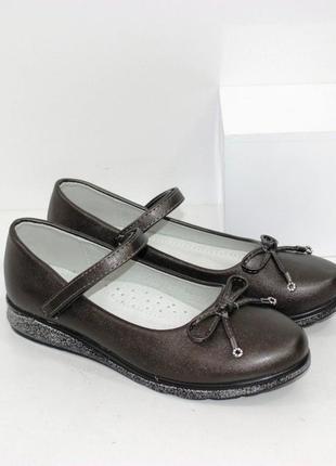 Женские на девочку школьные туфли для девочек