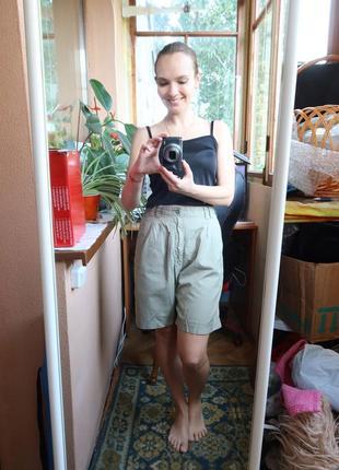 Женские классные летние шорты с высокой талией хаки, очень удобные cross