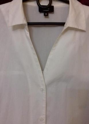 Avant premiere / 100% хлопок трендовое свободное платье рубашка на пуговицах рукав фонарик біла сукня на ґудзиках5 фото