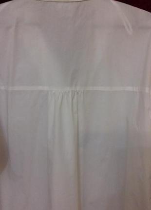 Avant premiere / 100% хлопок трендовое свободное платье рубашка на пуговицах рукав фонарик біла сукня на ґудзиках7 фото