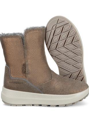Ecco solice мембрана gorе-tex теплые, удобные, красивые зимние ботинки eссо