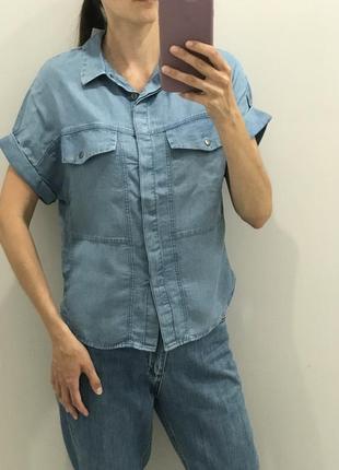Джинсовая рубашка, легкая короновал рубашка под джинс