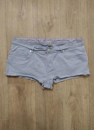 Шорты короткие джинсовые серые