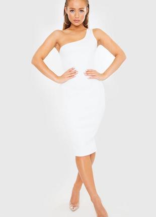 Платье миди на одно плечо по фигуре