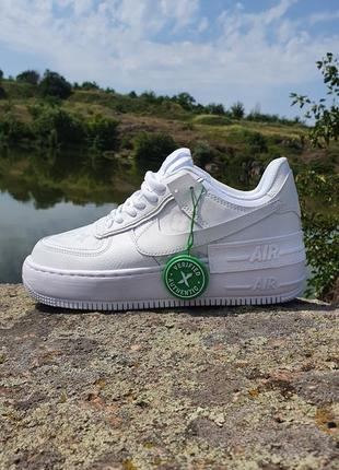Nike air force shadow 1 white x lv легкие кроссовки
