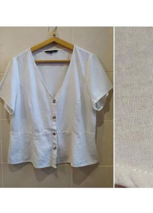 Шикарная льляная блуза такнь натуральная лен котон брльшого размера vero moda