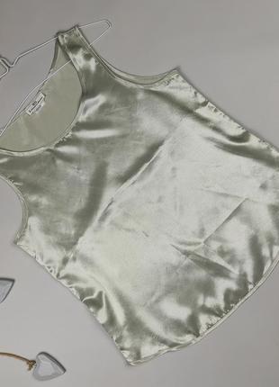 Блуза майка шелковая шикарная легкая m