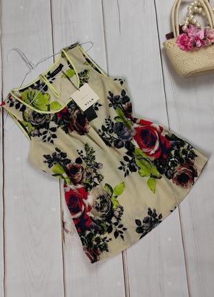 Блуза люксовая новая в цветочный принт vila clothes uk 10/38/s