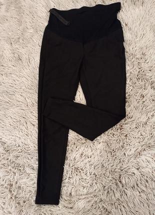 Черные зауженные брюки для беременных