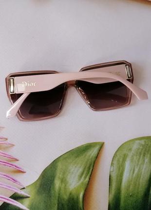 Эксклюзивные брендовые кремово розовые солнцезащитные женские очки 2021 с поляризацией