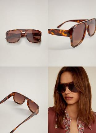 Солнцезащитные очки манго в стиле ретро под черепаху чехол в подарок!