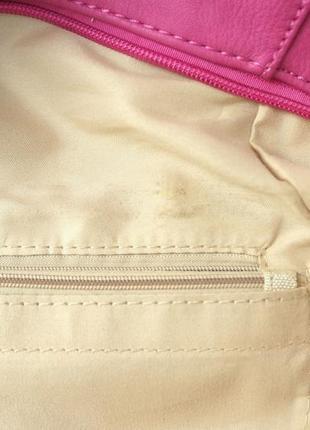 Стильная красивая яркая сумка цвета фуксия.8 фото