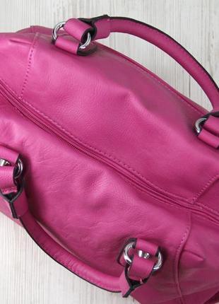 Стильная красивая яркая сумка цвета фуксия.6 фото