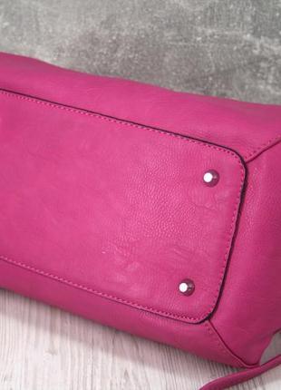 Стильная красивая яркая сумка цвета фуксия.5 фото