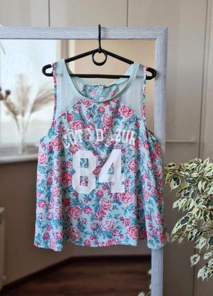 Летняя блузка в цветочный орнамент 🌺