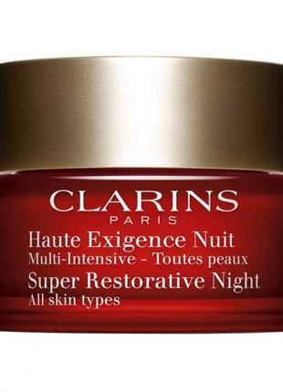 Clarins super restorative ночной крем