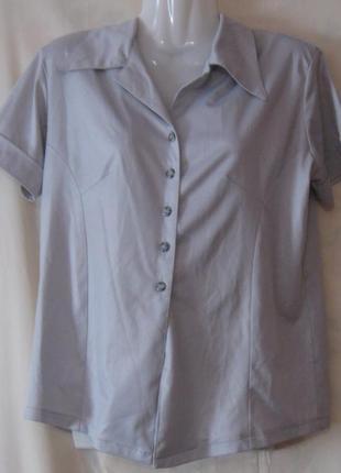 Блузка женская летняя, стальная, с коротким рукавом. см мерочки