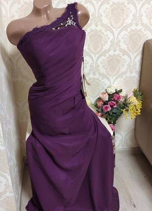 Шикарное невероятно красивое вечернее платье в пол