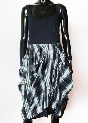 Платье комбинация 3х видов ткани max mara sportmax