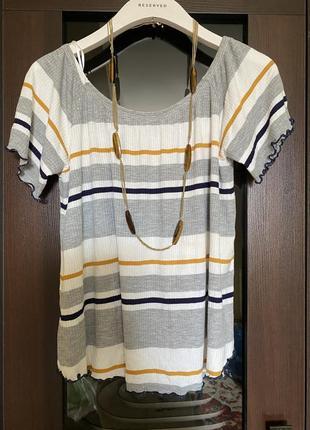 Блузка в рубчик asos