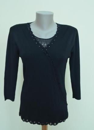 Хорошая трикотажная блуза с декором, италия
