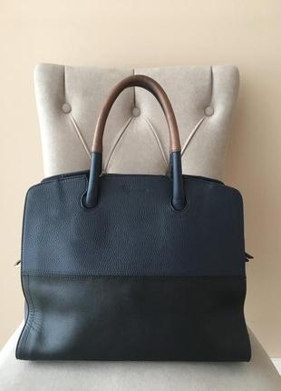 Кожаная сумка для документов шопер vigneron paris