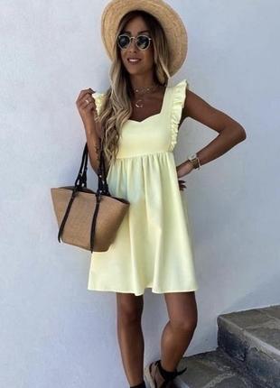 Бомбезное летнее платье