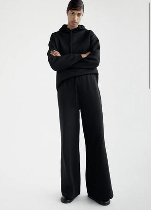 Легкие чёрные брюки палаццо zara в наличии размер s