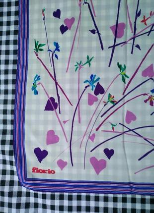 Оригинал, шелковый платок fiorio3 фото