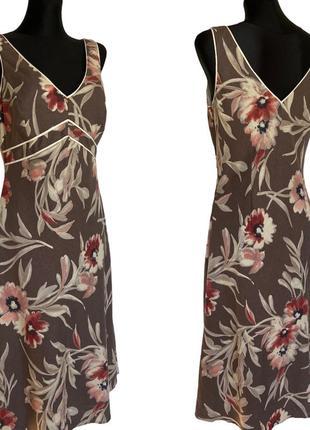 Фирменное стильное качественное натуральное платье из льна