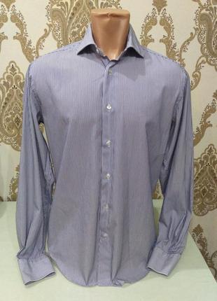 Zara мужская полосатая рубашка с длинным рукавом