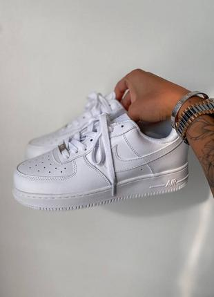 Nk air force 1 low classic white кроссовки белые