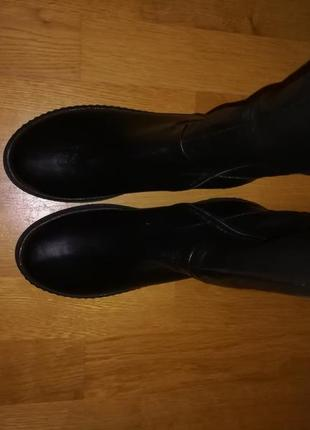Сапоги зимние, шкіряні зимові чоботи, 38 розмір