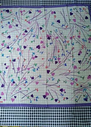 Оригинал, шелковый платок fiorio