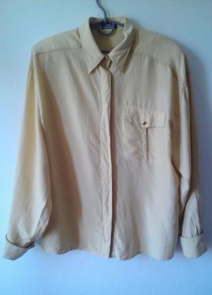 Шелковая винтажная рубашка, размер: 42 / xl / 50