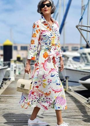Платье белое платье рубашка на пуговицах с поясом h&m asos zara