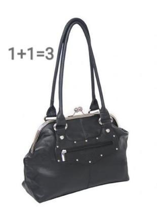 ❤️1+1=3❤️ сумка черная, вместительная сумка casa di borse