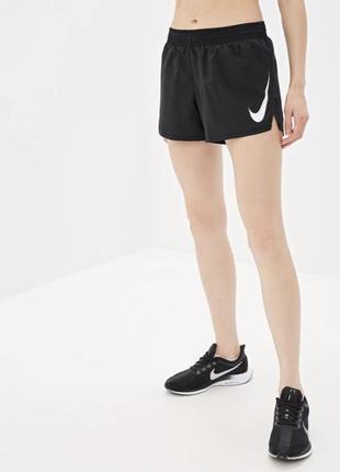 Крутые шорты nike swoosh run shorts wmn