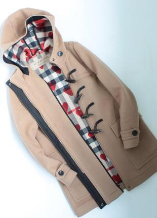 Burberry оригинальное пальто женское шерстяное барберри бежевое l