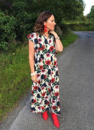 H&m платье на пуговицах в принт маки h&m платье из натуральной ткани