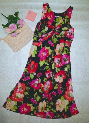 Платье шелк розы
