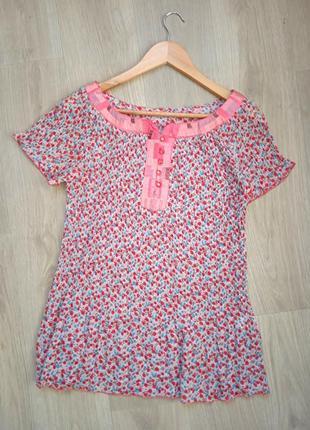"""""""zoteno"""" италия плиссированная блуза топ шелковоая вышивка"""