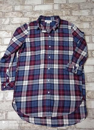 Рубашка в клетку сорочка в клітинку для дома і сну
