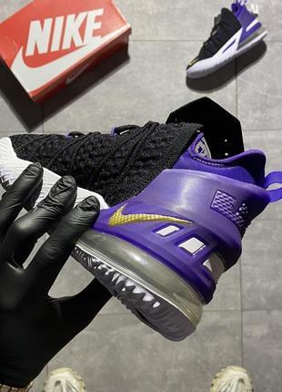 Женские кроссовки nike lebron 18 black violet 37-38-39-40-414 фото