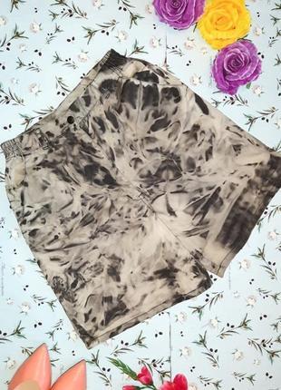 🎁1+1=3 оригинальные фирменные джинсовые высокие шорты бермуды, размер 48 - 50