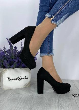 Женские туфли, чёрные туфли, туфли на каблуке