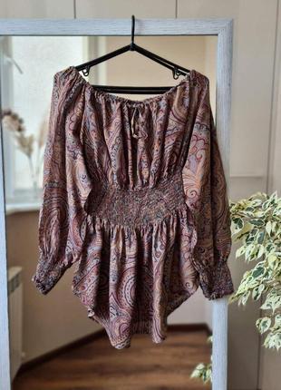 Летняя шелковая блузка в орнамент avant - premiere 🌺