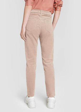 Пудровые вельветовые штаны dkny jeans оригинал с замерами 🤍 торг